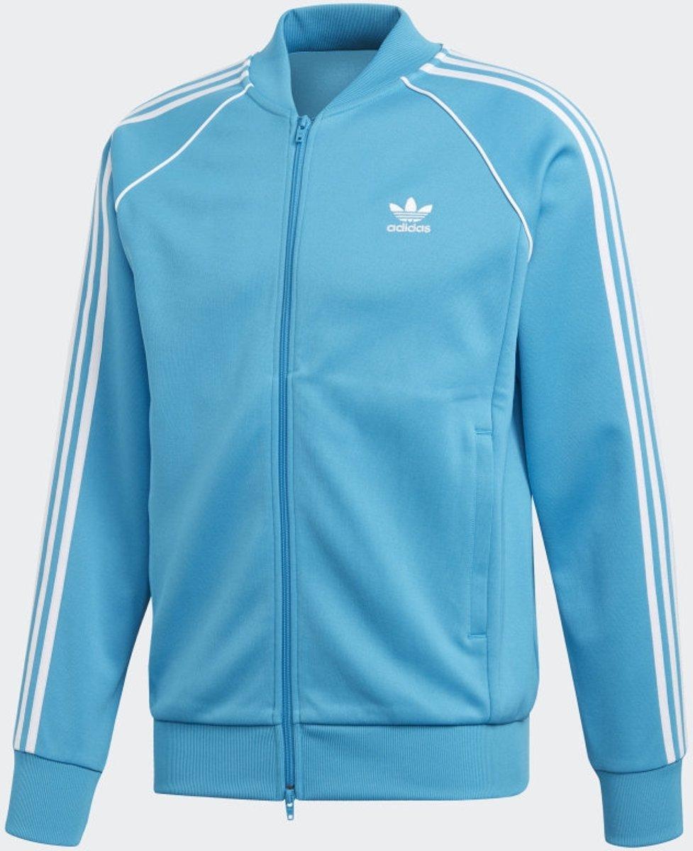 adidas Sst Tt Heren Vest Shock Cyan Maat XL