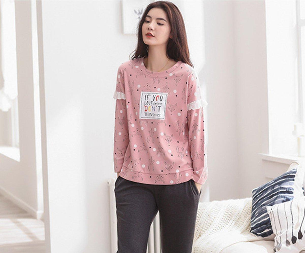 Printed lange mouwen pyjamasets XXL 6303 (Raadpleeg de productbeschrijving voor de maat) kopen