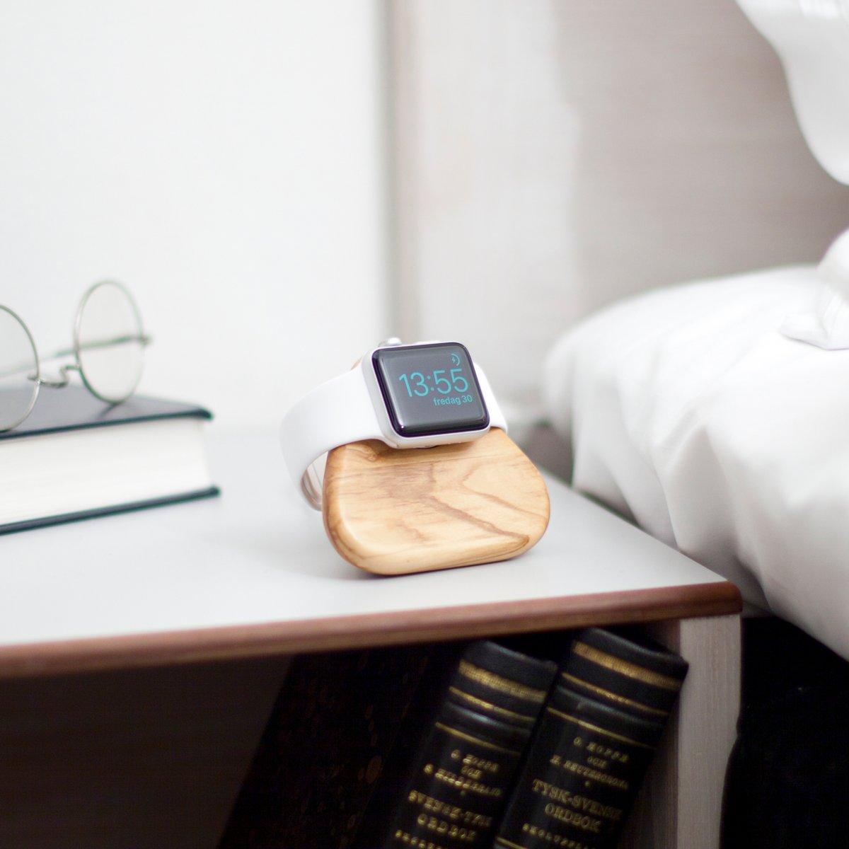 Bosign Apple Watch Standaard – Oplaaddock  -  Docking Station – Oplaadstation - Olijfhout - Tetra kopen