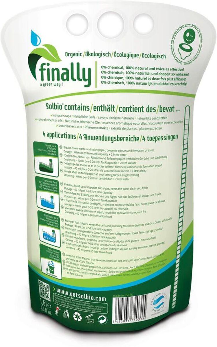 Alternatief Voor Chemisch Toilet.Solbio Original Biologische Toiletvloeistof