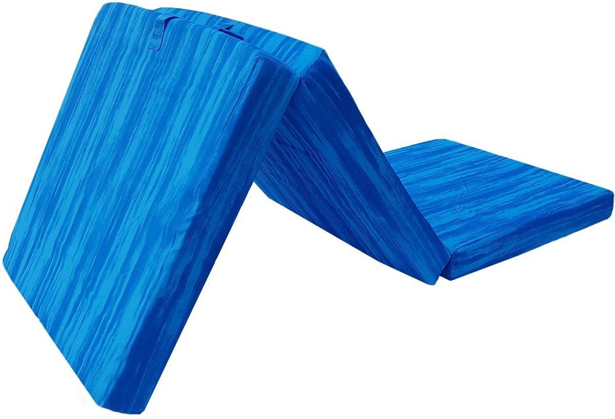 Inklapbaar Vouwmatras - opvouwmatras - 70x190x9 - lichtblauw