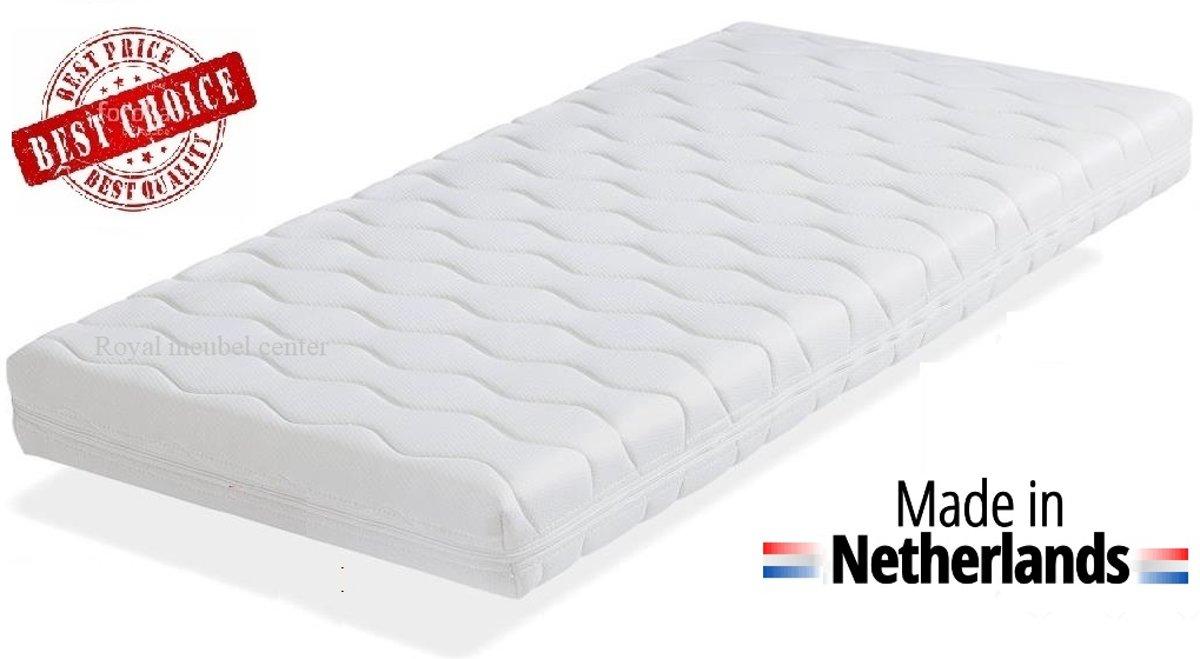 Matras 90x190x14 cm Comfort schuim met anti-allergische wasbare hoes. Royalmeubelcenter.nl ®