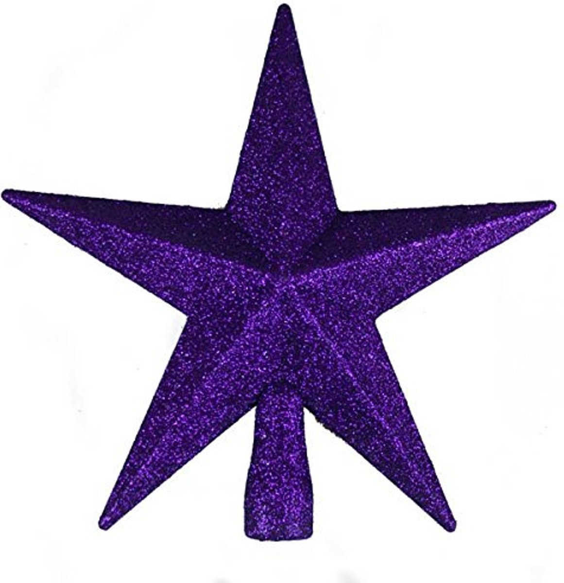 Kerstversiering   Paarse glitter ster als piek   Purper Glitter Finish Tree Top Star -20cm kopen