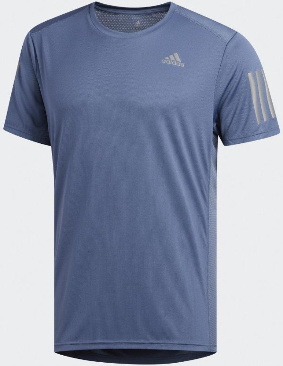 adidas OWN THE RUN TEE Heren Sportshirt - Tech Ink - Maat XL