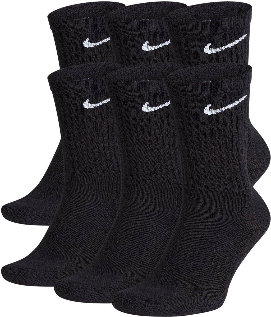 Nike Everyday Cushion Crew Sokken  Sportsokken - Maat 43-46 - Unisex - zwart/wit Maat 42-46 kopen