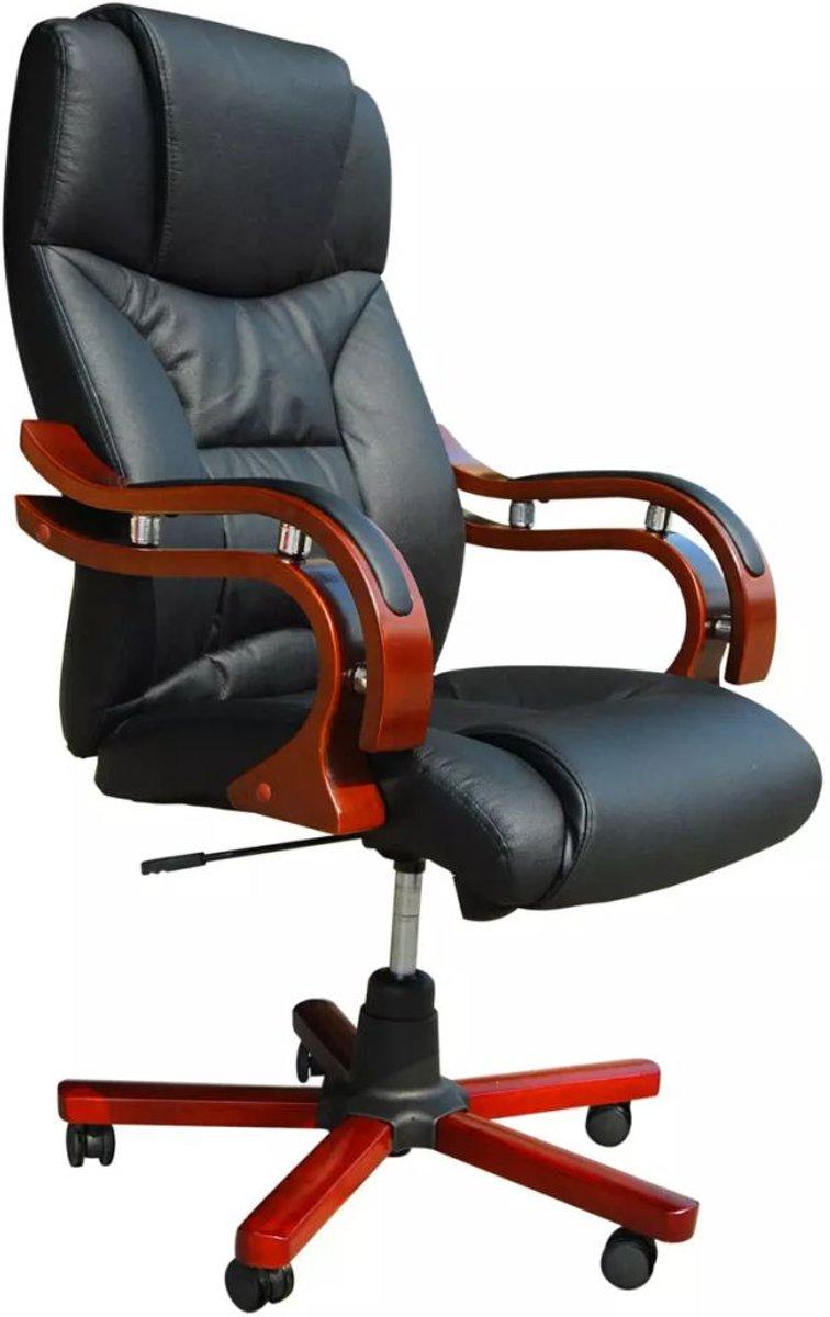 Draaibare Antieke Bureaustoel.Bol Com Vidaxl Directie S220 Bureaustoel Zwart