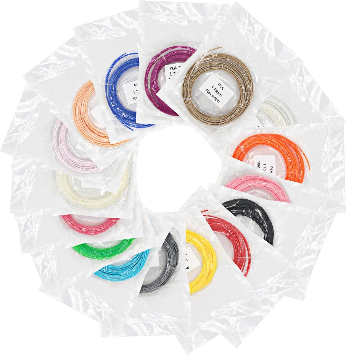 KERST 3D Pen filament - 6 kleuren pakket - 60 meter PLA