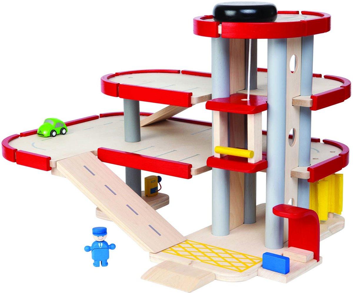 Plan Toys Parkeergarage + autotransporter