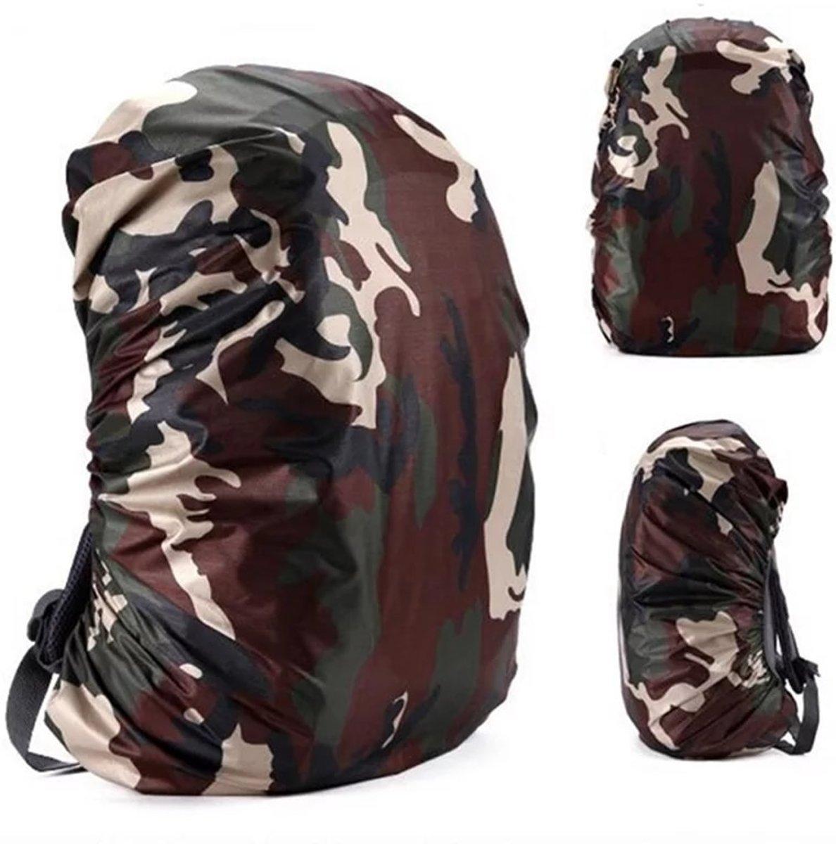 BlezLiving - luxe & universeel - regenhoes voor rugzak - tas beschermer - 35 liter - waterdicht - camouflage kopen