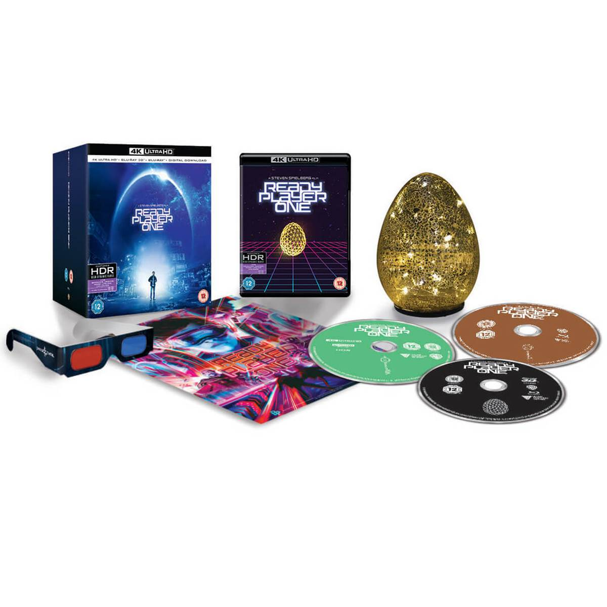 Ready Player One - 4K Ultra HD Zavvi Exclusive Egg Light Collector's Edition (inclusief 3D Blu-ray & Blu-ray)-