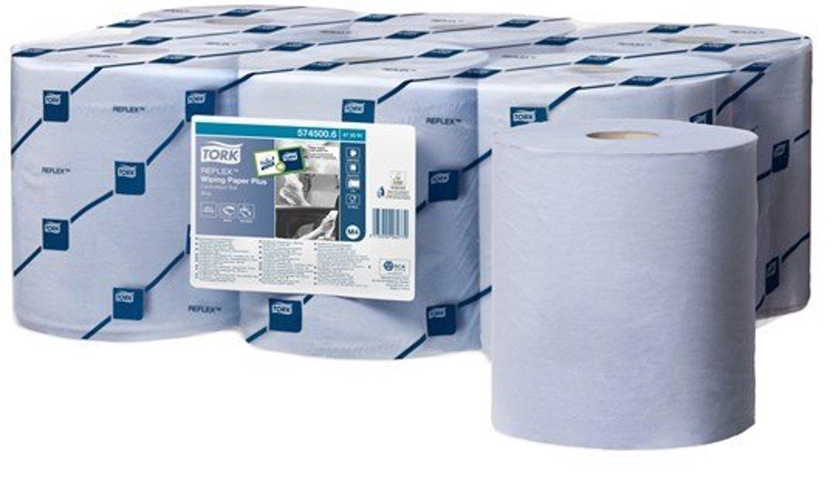 Tork Reflex®  Wiping Plus Centerfeed Poetspapier  2-laags  Blauw M4 kopen