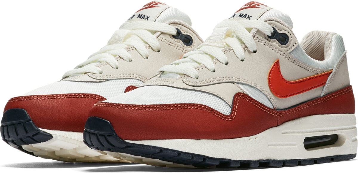 4645e51157f ... Nike Air Max 1 Sneakers Kinderen - Sail/Vintage Coral-Mars Stone - Nike  ...