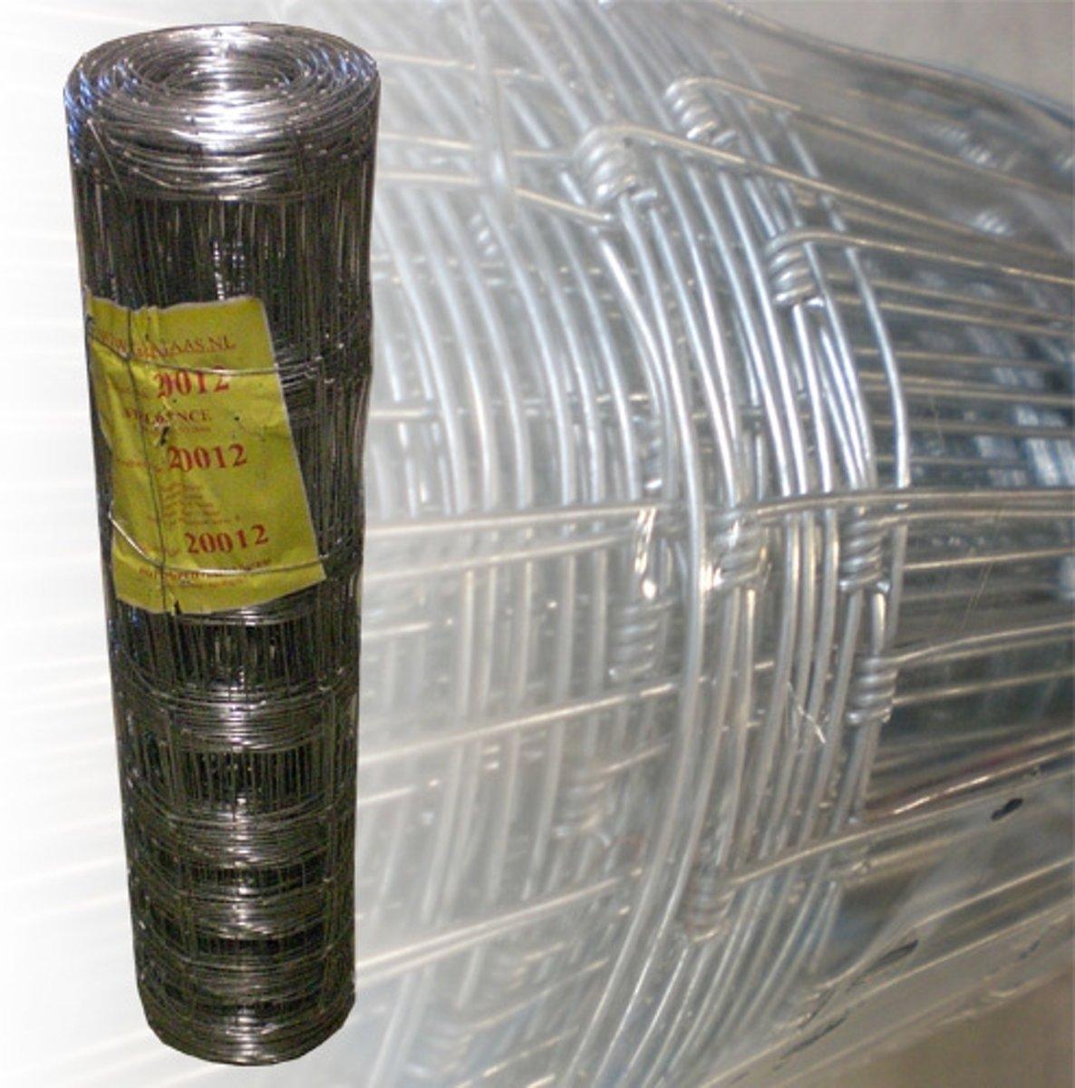 Schapengaas gegalvaniseerd | 50 m. | 100 cm. | 8 draden | 15 cm.