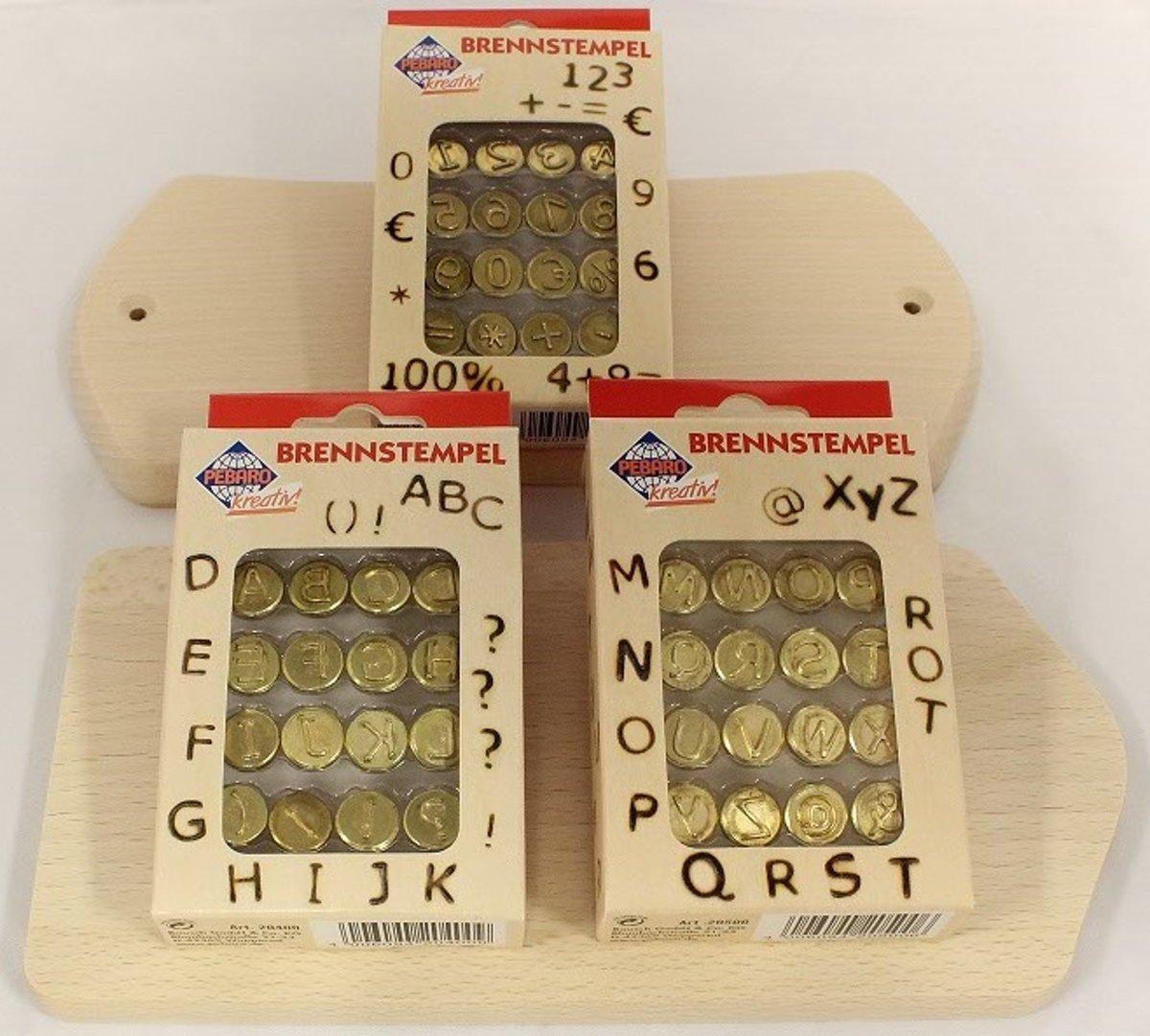 Pebaro Brandstempelset Letters en Cijfers A040001 - 12 brandstempels