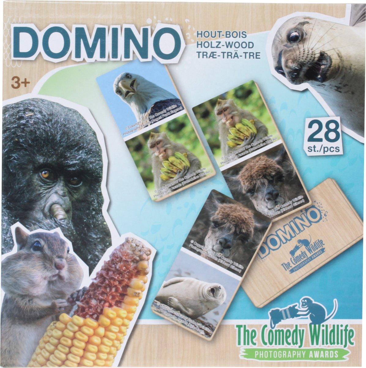 The Comedy Wildlife Houten Domino Dieren 28-delig kopen