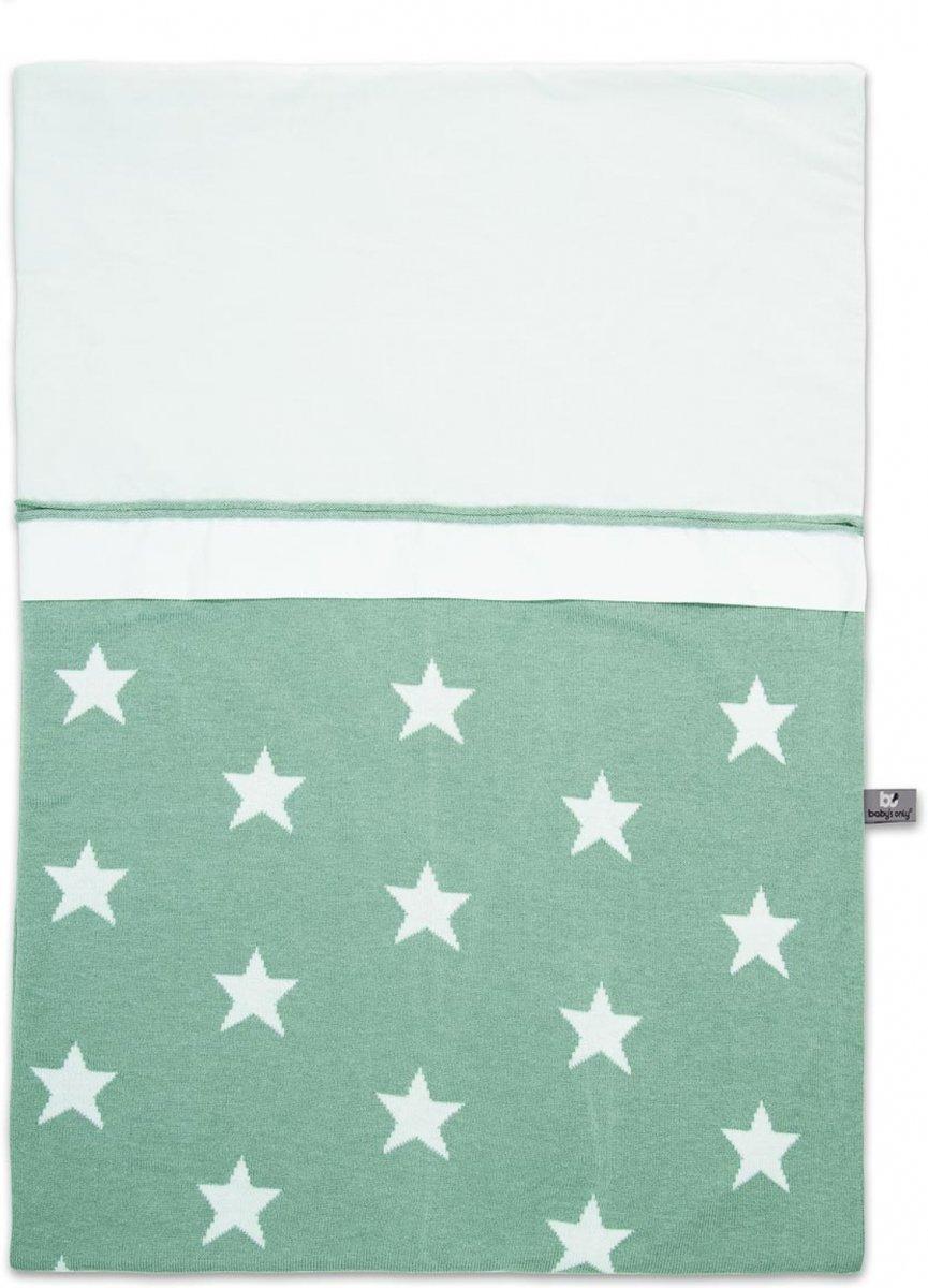 Baby's Only Dekbedovertrek 100x135 Cm Star Mint kopen
