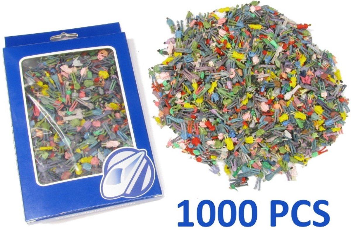 1000 gekleurde staande figuren H0 (1:87)