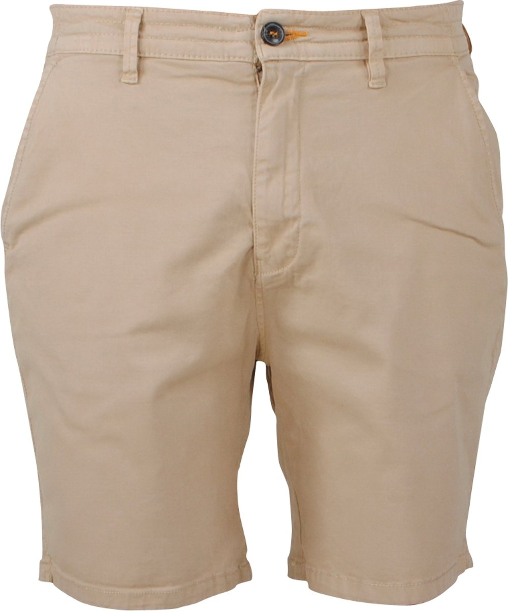 Cars Jeans Heren Short Stretch Tino Beige