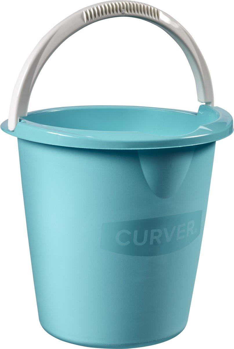 Curver Emmer Met Hengsel en Schenktuit - 10l - Blauw kopen