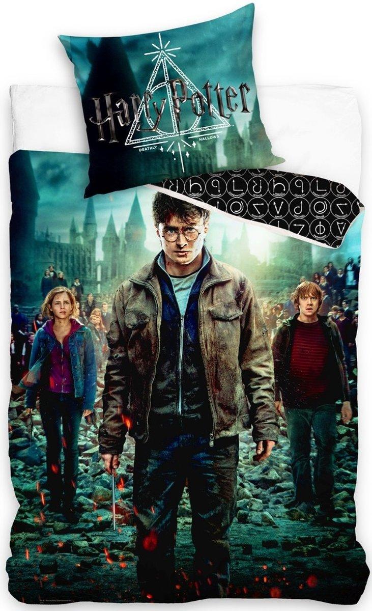 Harry Potter éénpersoons dekbedovertrek 140 x 200 cm kopen