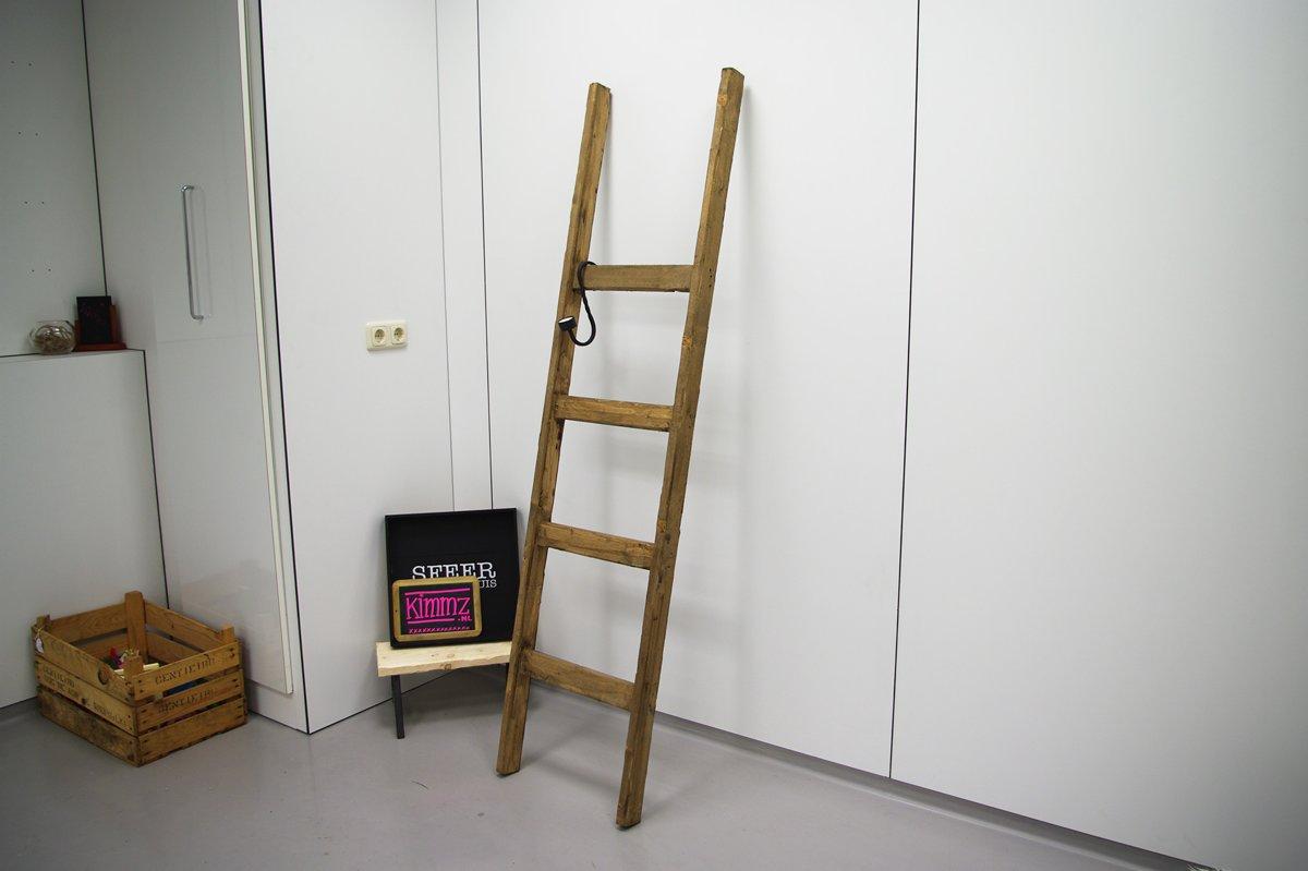 Houten Ladder Decoratie : Bol decoratie ladder in hoffz stijl