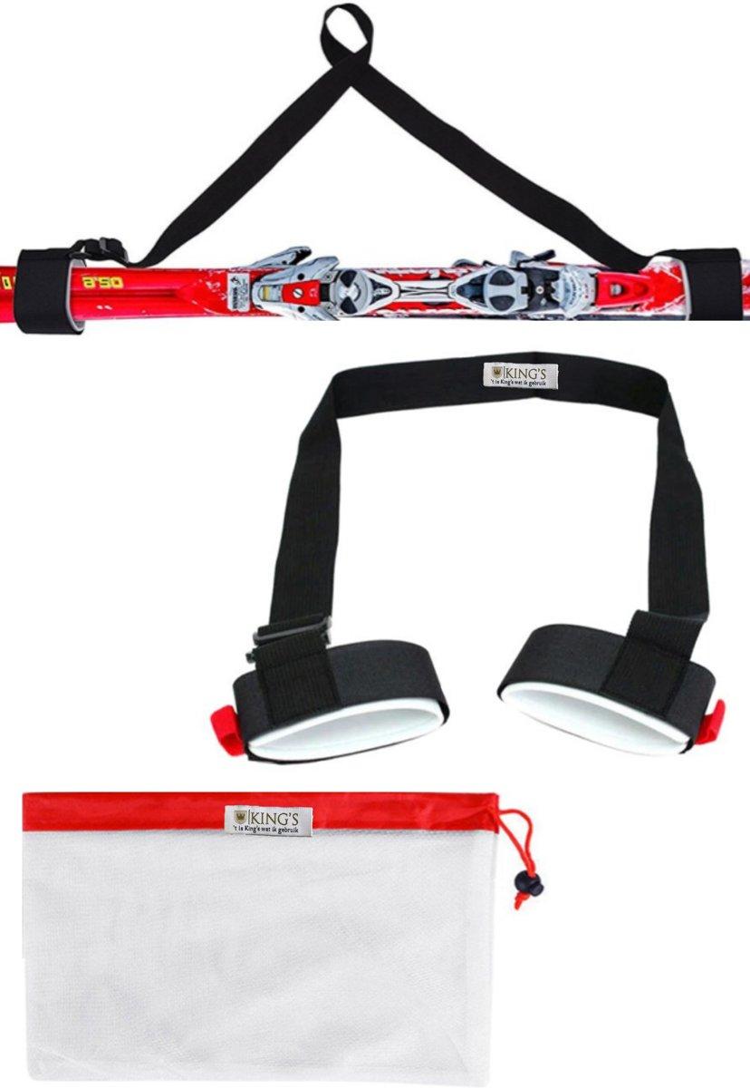 Ski tas - Draagband voor ski's en skistokken - Wintersport benodigdheden - Inclusief gratis opberg tas kopen