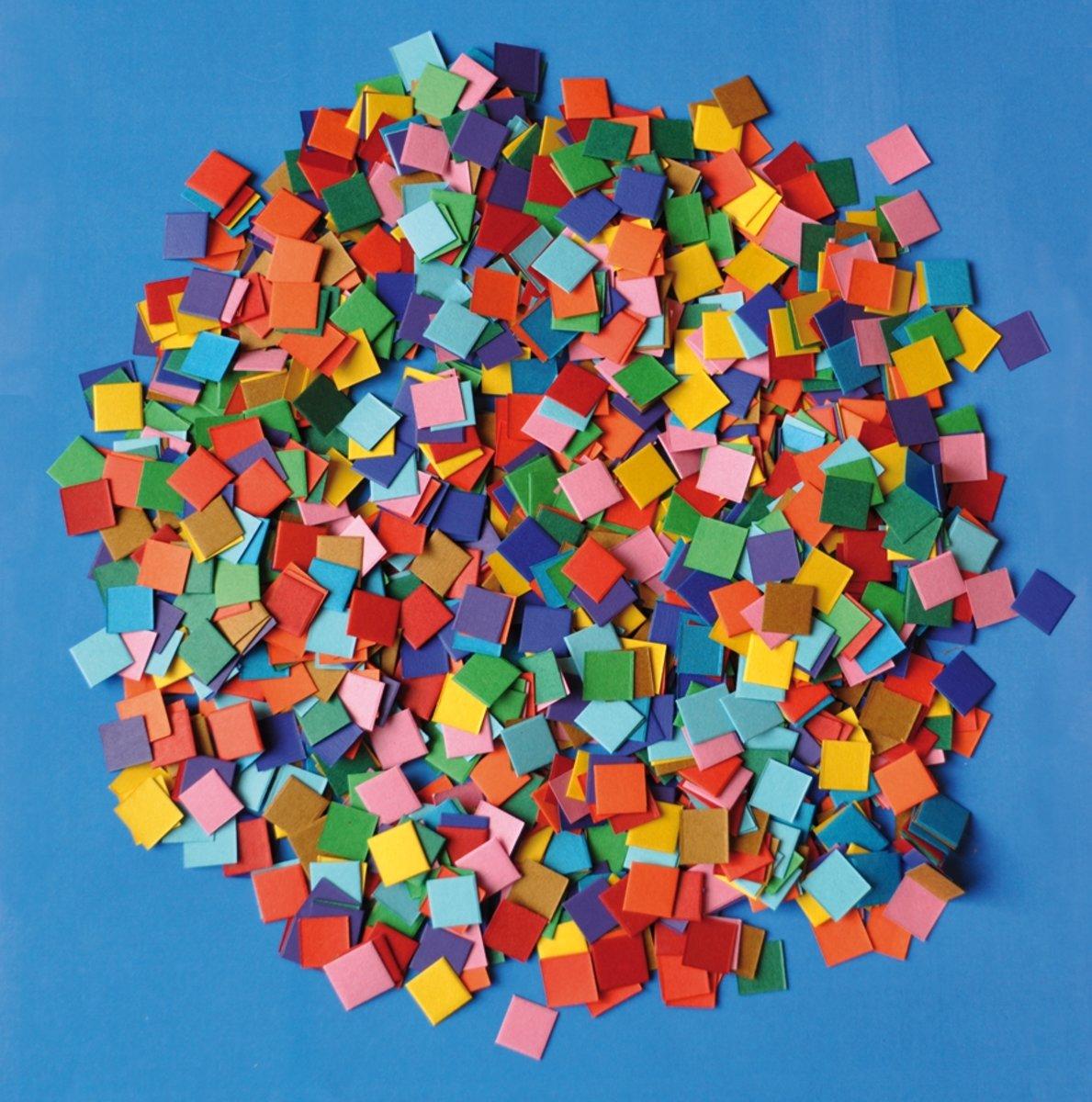 Papier mozaiek 10.000 stuks kopen