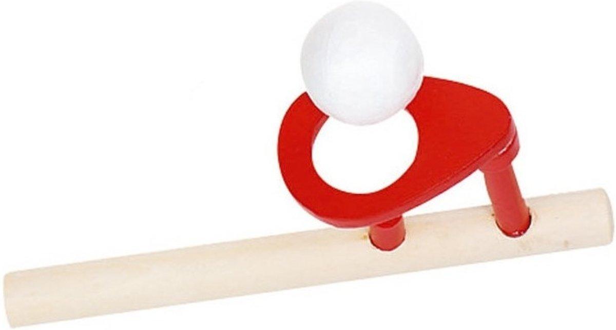 Goki Houten zwevende bal: 15 x 5 cm rood kopen