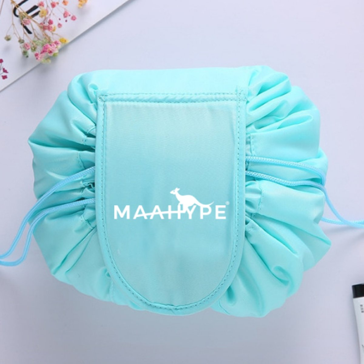 MaaHype Make-up organiser - Makeup opbergen - Accesoires organiser - Opbergsysteem - Reis toilettas - lichtblauw kopen