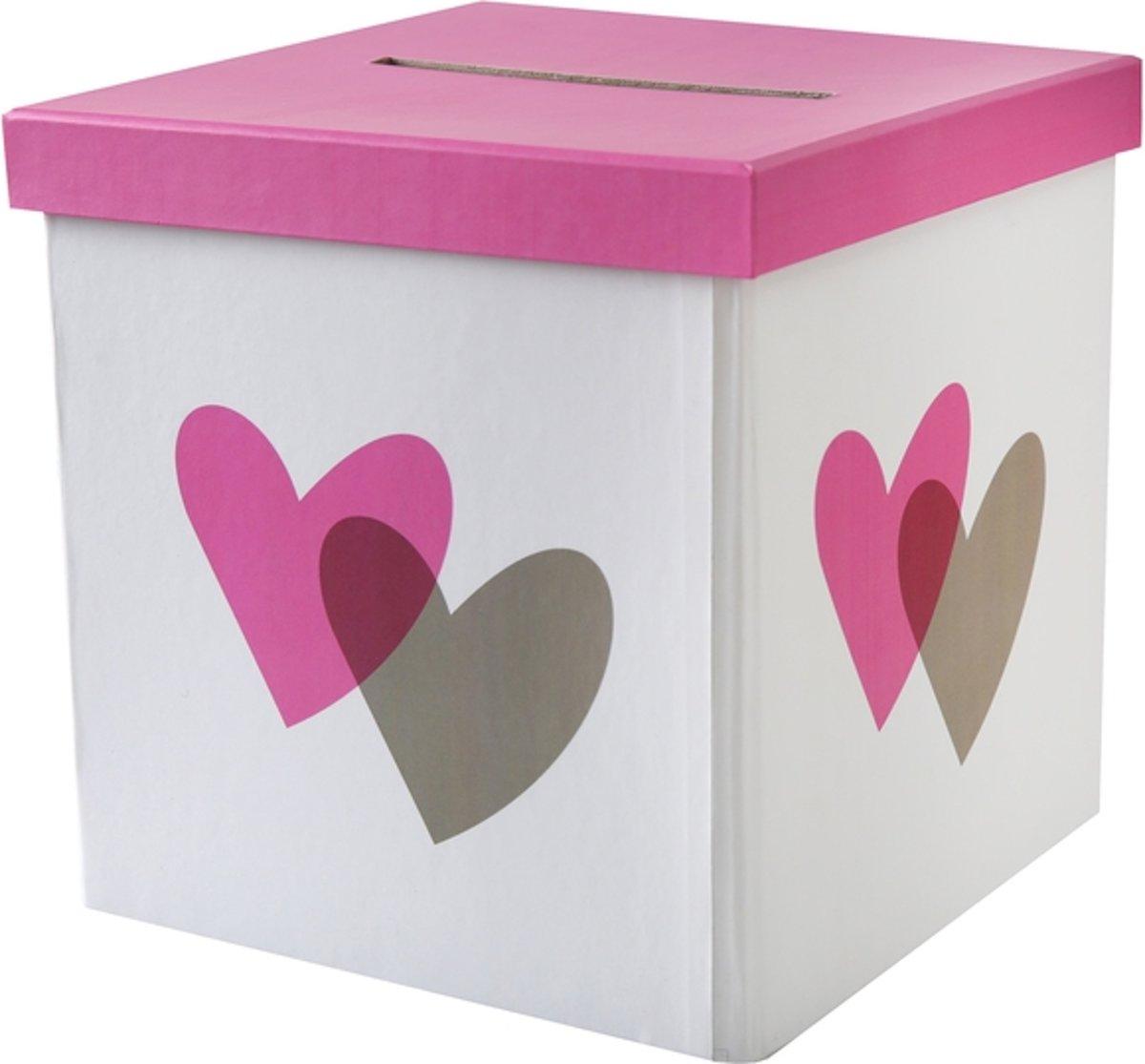 Santex Enveloppendoos harten roze kopen