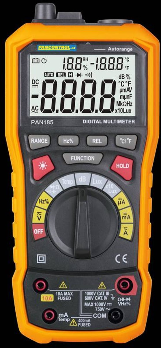 PAN 185 - Multisensor-meter voor elektrische en fysieke hoeveelheden kopen