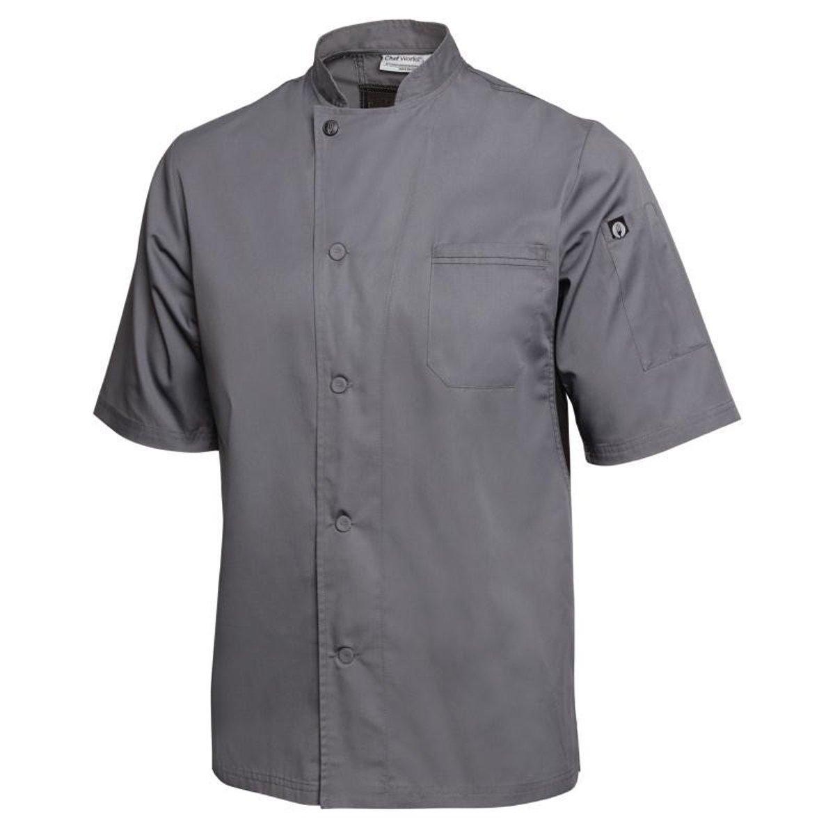 Chef Works koksbuis Valais grijs Maat S kopen