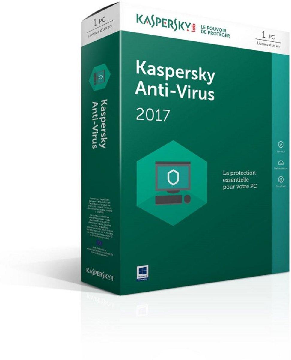 Kaspersky Lab Anti-Virus 2017 Base license 1 licentie(s) 1 jaar kopen