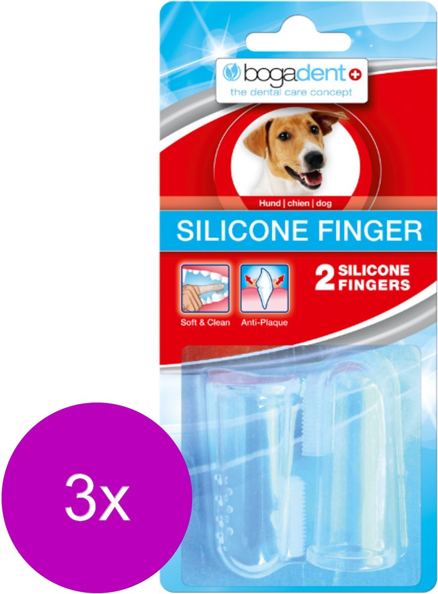Bogadent Dental Silicone Finger - Gebitsverzorging - 3 x 2 stuks kopen