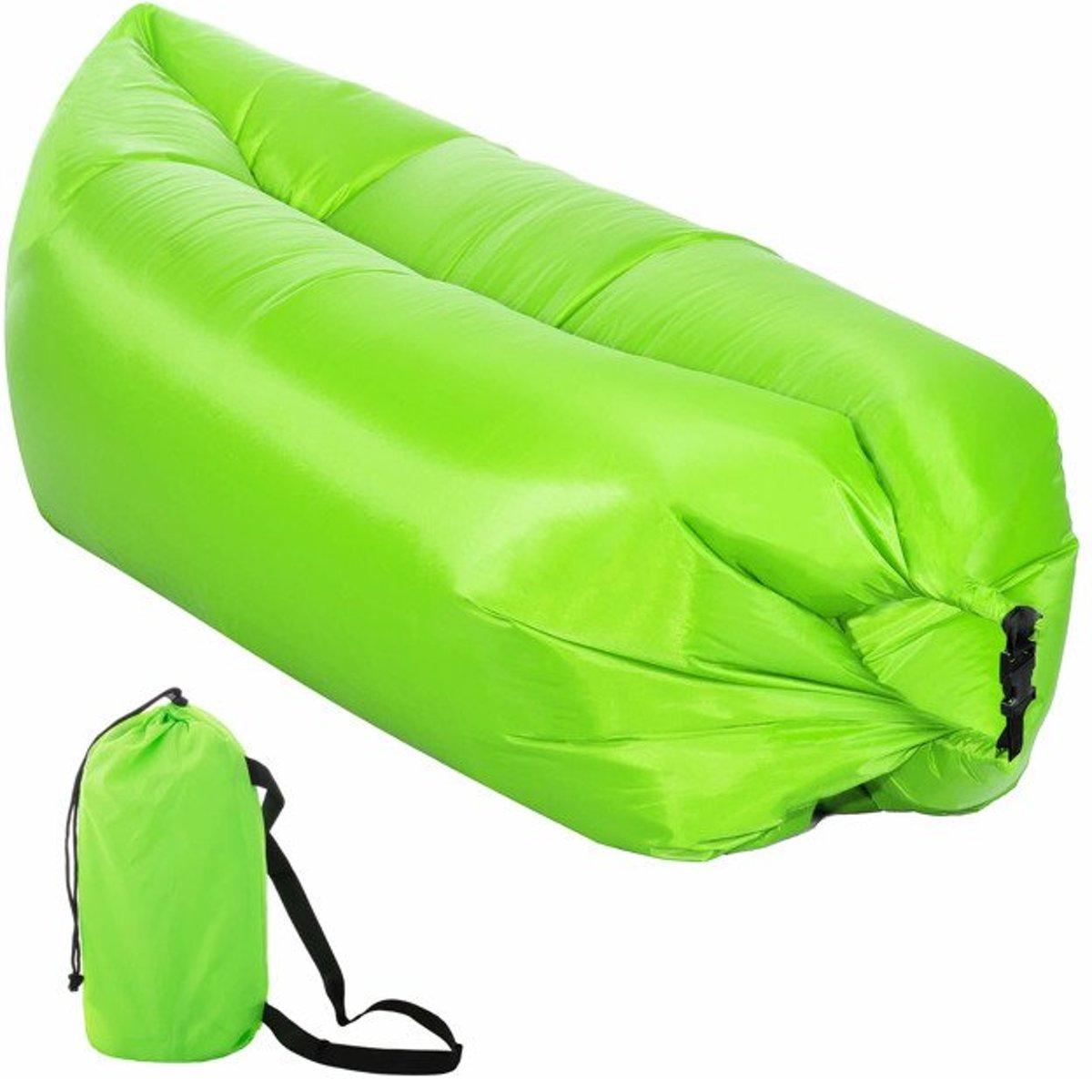Zitzak Met Lucht.Lazy Bag Groen Xl 190 X 85 Cm Tot 180 Kg Lucht Zitzak