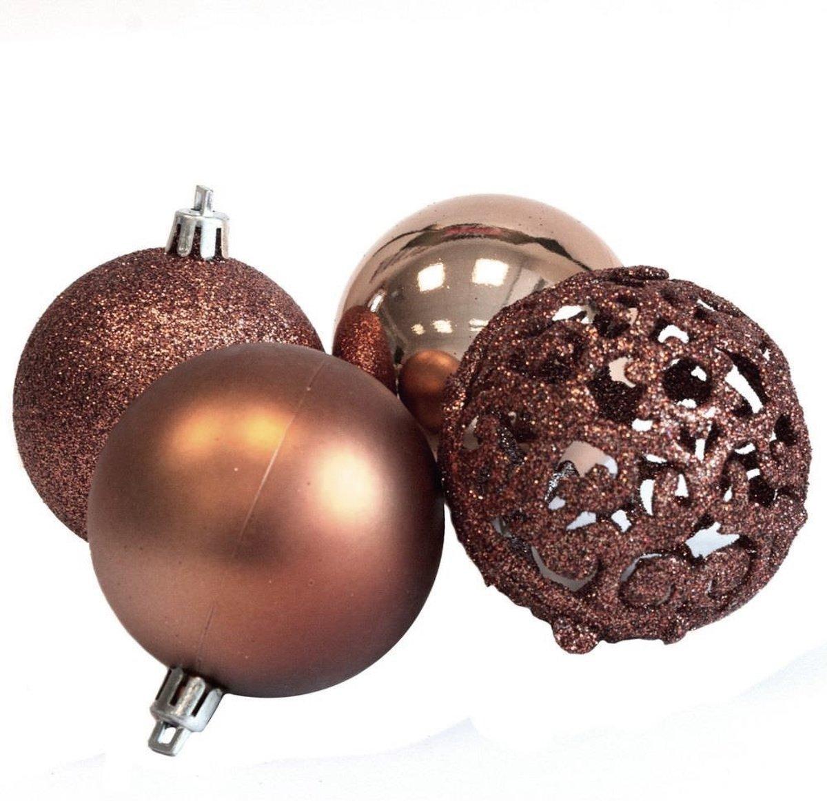 Bol Com Kerstballen Set 100 Ballen Plastic Kunststof Koper