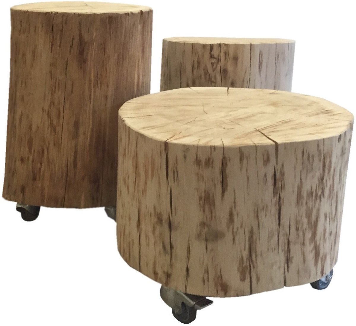 New bol.com | Stoereplanken Romee Bijzettafels - Boomstam meubels #VP73