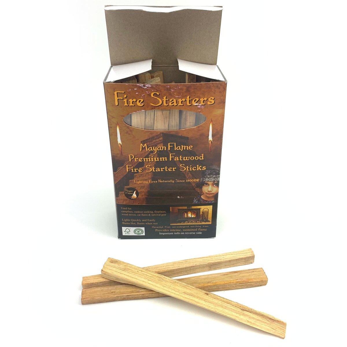 Mayan Flame - Aanmaakblokjes / Aanmaakhout - 100% Natuurlijk Premium Fatwood kopen
