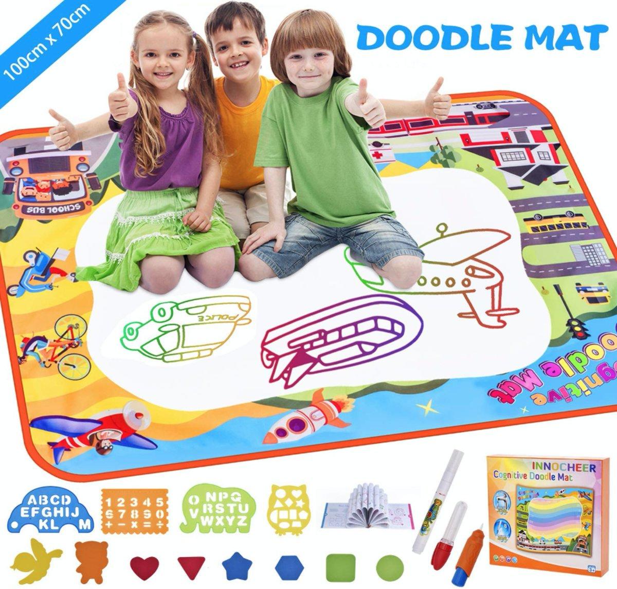Doodle Mat Aqua Magic Tekenmat Kleuren Colors Water Magisch Tekenen Kids Kinderen Spelen Leren Spel Cadeau Verjaardag Geschenk kopen