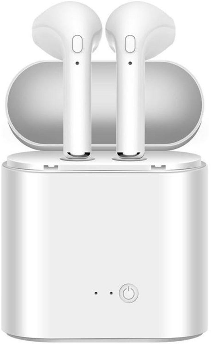 Draadloze oordopjes - Earphones | Alternatief Airpods | Earbuds | Geschikt voor alle bluetooth smartphones zoals Apple iPhone en Android Samsung| Inclusief oplaadbox | Wit