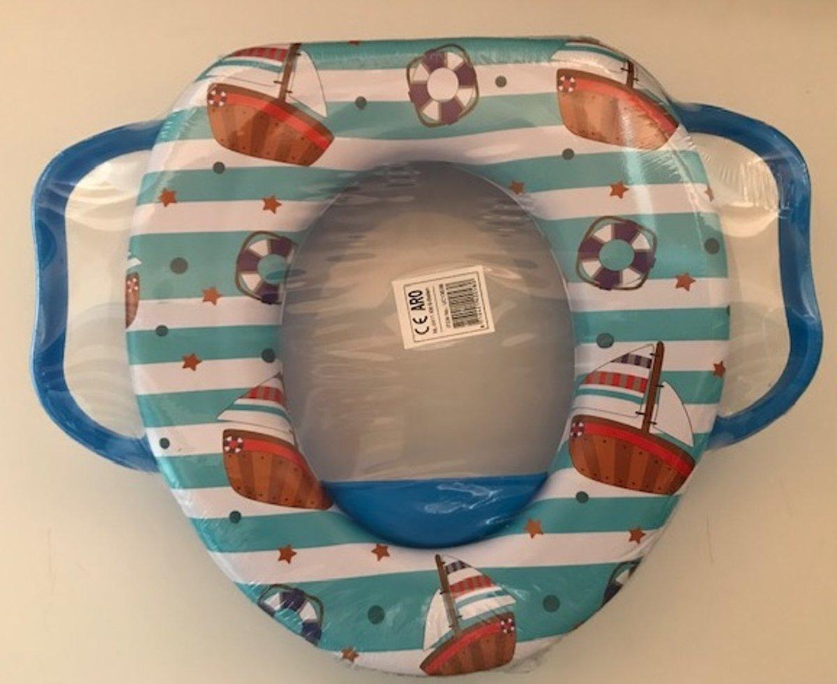 Toiletbril verkleiner Voor Kinderen - blauw - Zeilboot kopen
