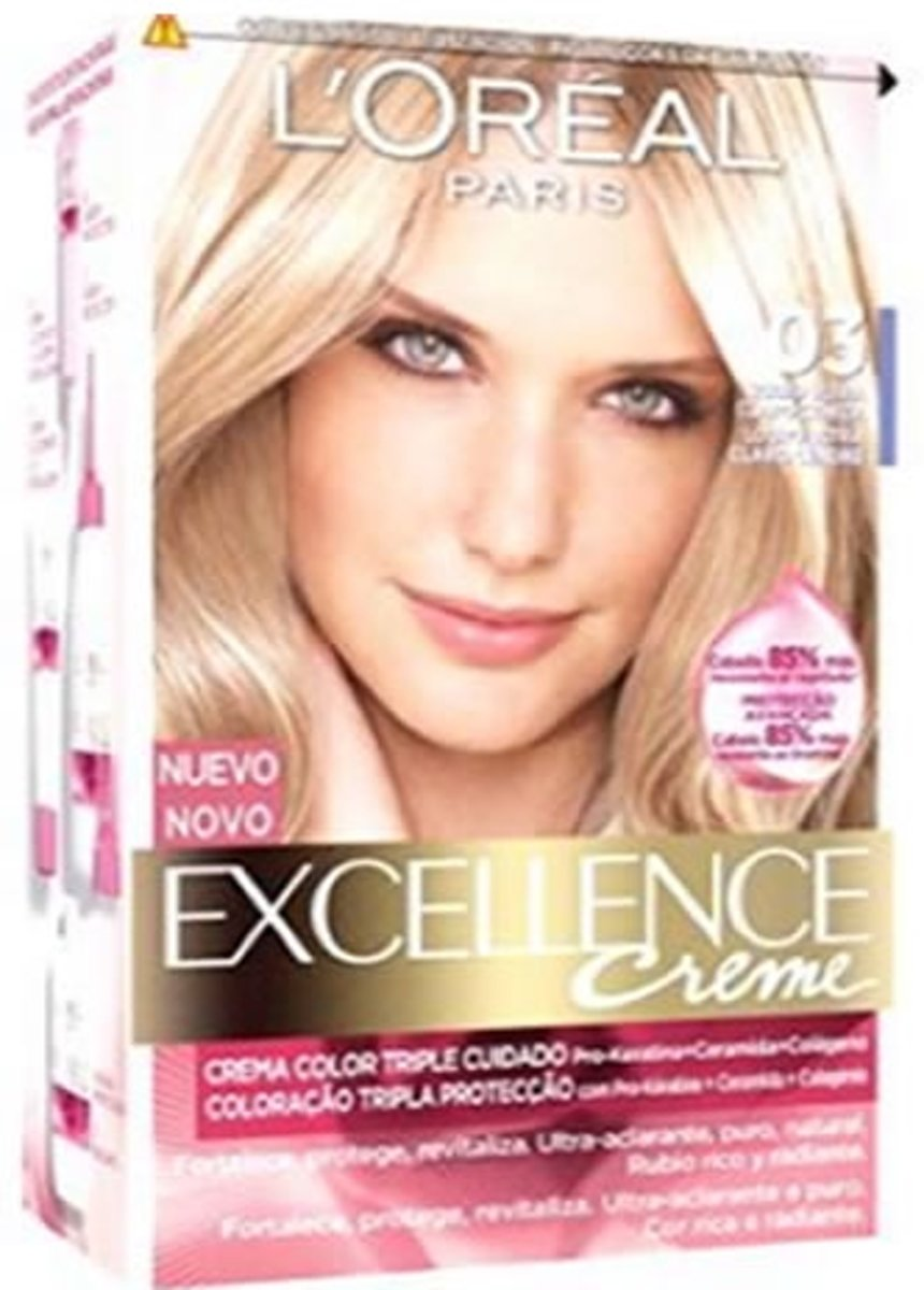 Permanente Kleur Excellence L'Oreal Expert Professionnel Ultra light ash blonde kopen