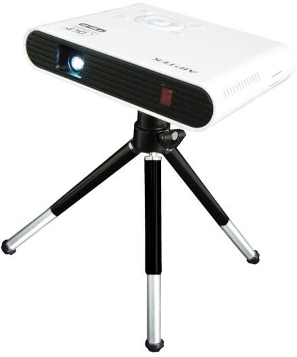 Aiptek AN100 beamer/projector 100 ANSI lumens DLP WVGA (854x480) Draagbare projector Zwart, Wit kopen