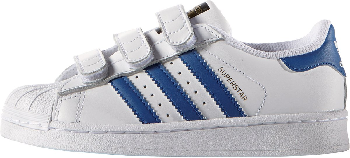 adidas superstar wit blauw junior