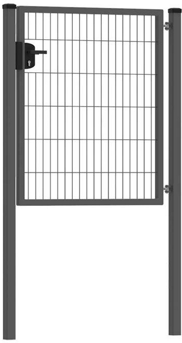 Dubbelstaafmat Hekwerk poort enkel    premium 100 cm breed   120  cm hoog