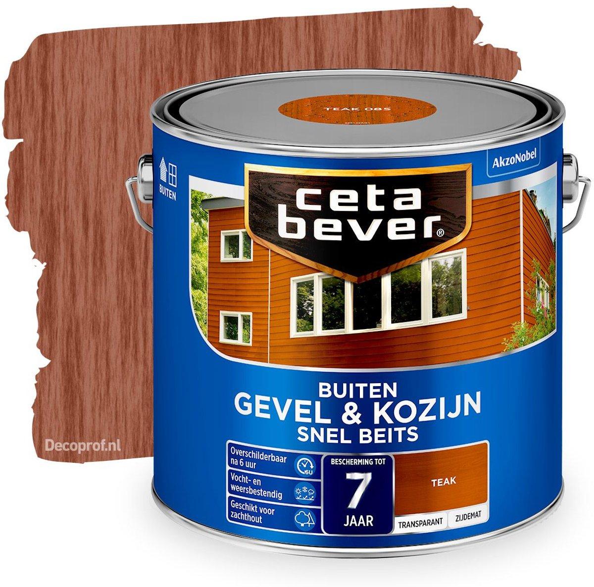 Cetabever Transparante Snel Beits Gevel & Kozijn - 085 Teak - 2,5L