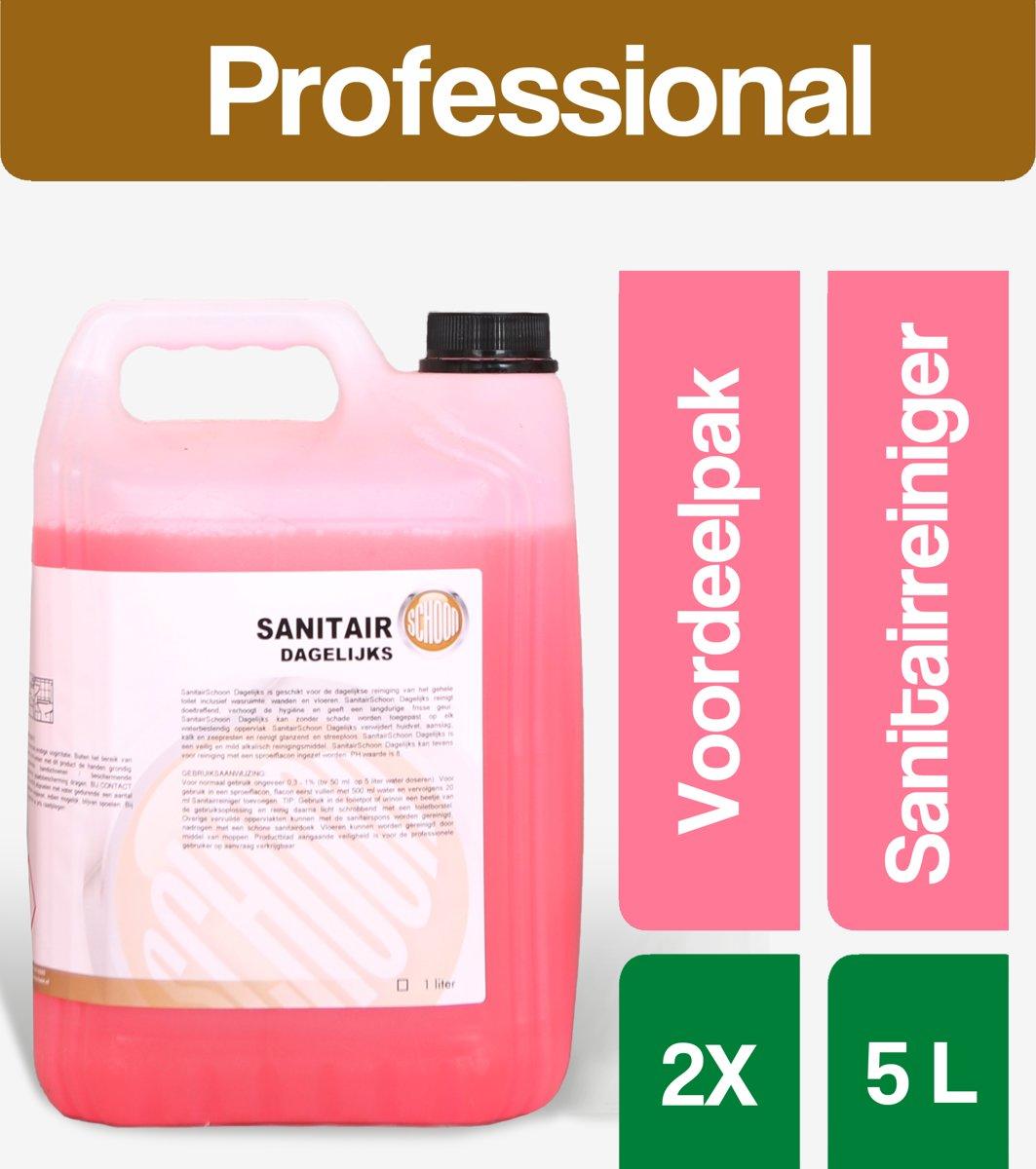 Sanitair reiniger SanitairSchoon(dagelijks) 2x5 Liter - Voordeelverpakking kopen