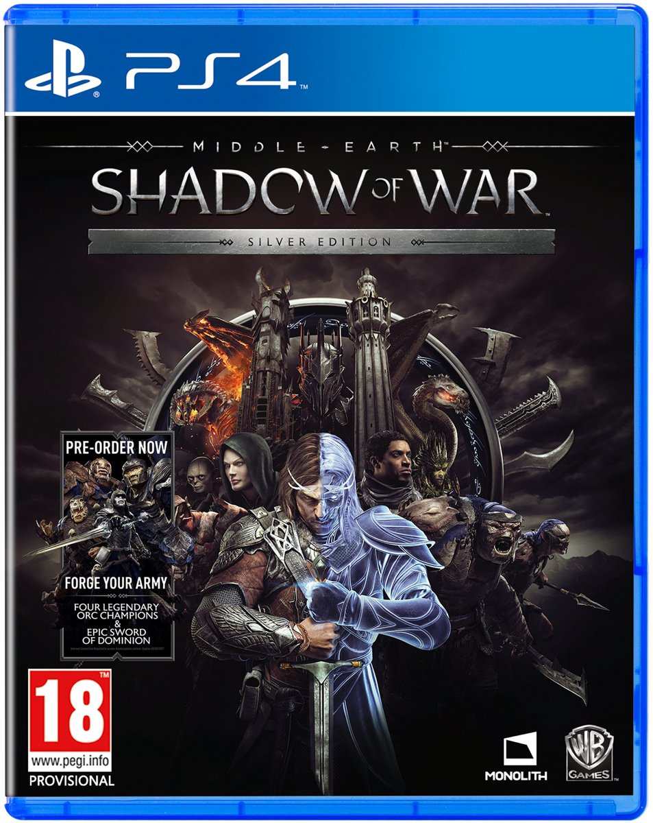 Middle-Earth: Shadow Of War - Silver Edition PlayStation 4