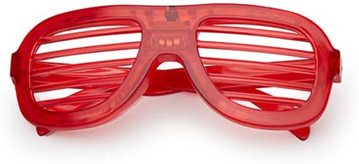 LED shutter bril basic | rood kopen