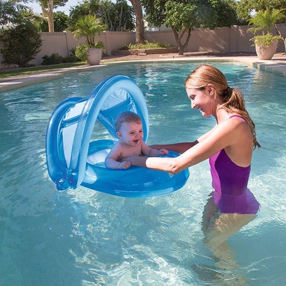 Zwemtrainer Baby drijfband Zwemband Baby boot blauw